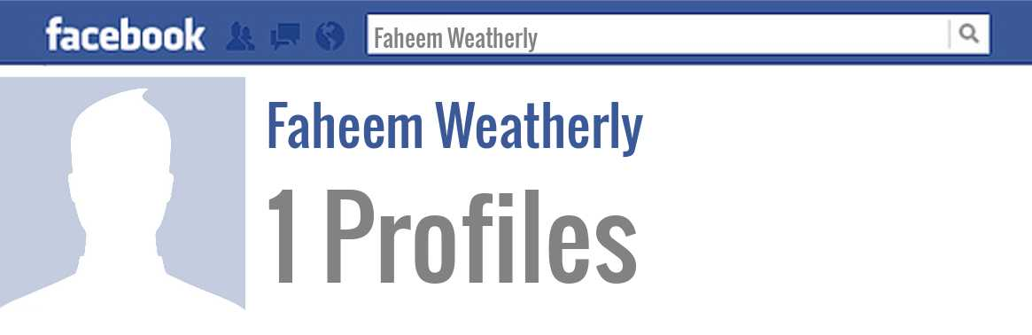 Faheem Weatherly facebook profiles