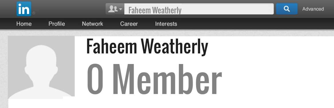 Faheem Weatherly linkedin profile
