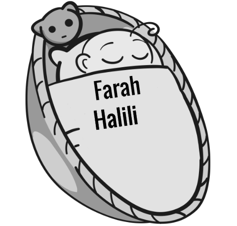 Farah Halili sleeping baby