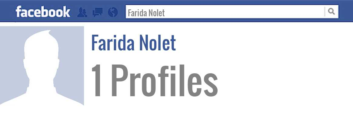 Farida Nolet facebook profiles