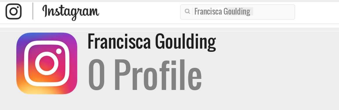 Francisca Goulding instagram account