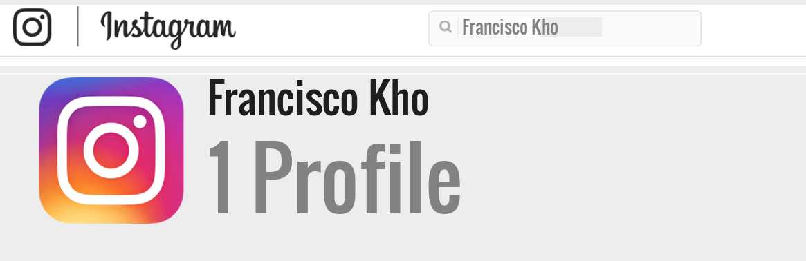 Francisco Kho instagram account