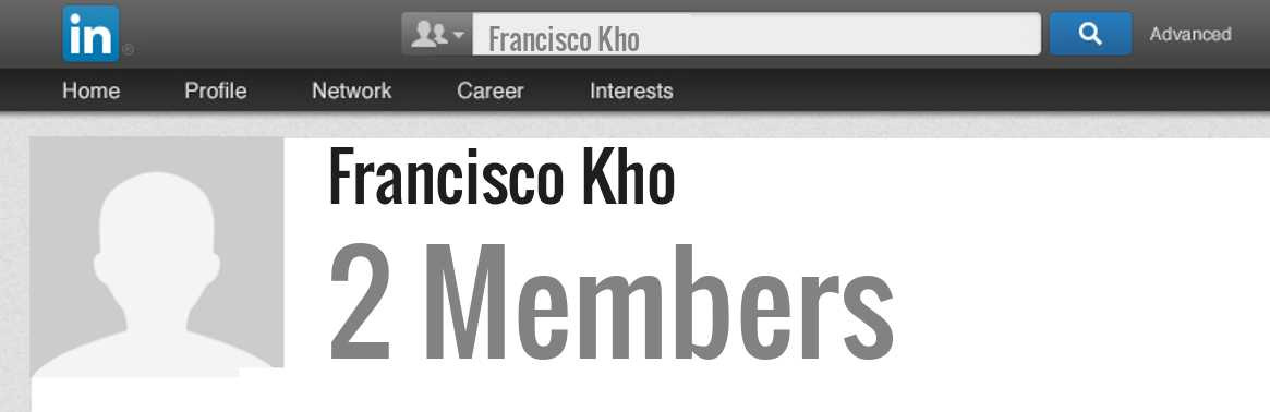 Francisco Kho linkedin profile