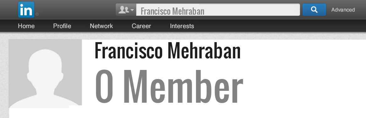 Francisco Mehraban linkedin profile