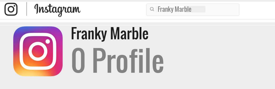 Franky Marble instagram account