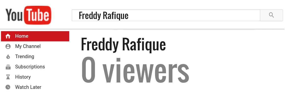 Freddy Rafique youtube subscribers