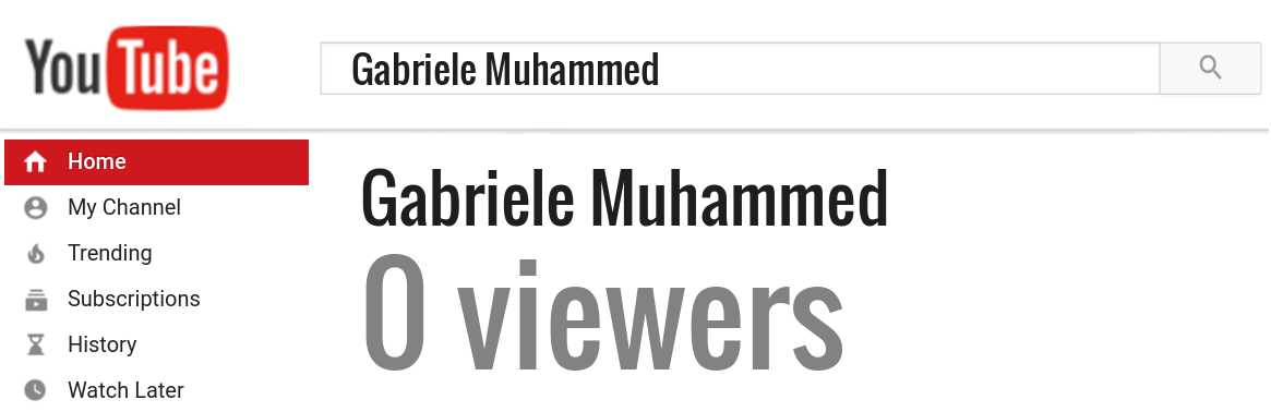 Gabriele Muhammed youtube subscribers