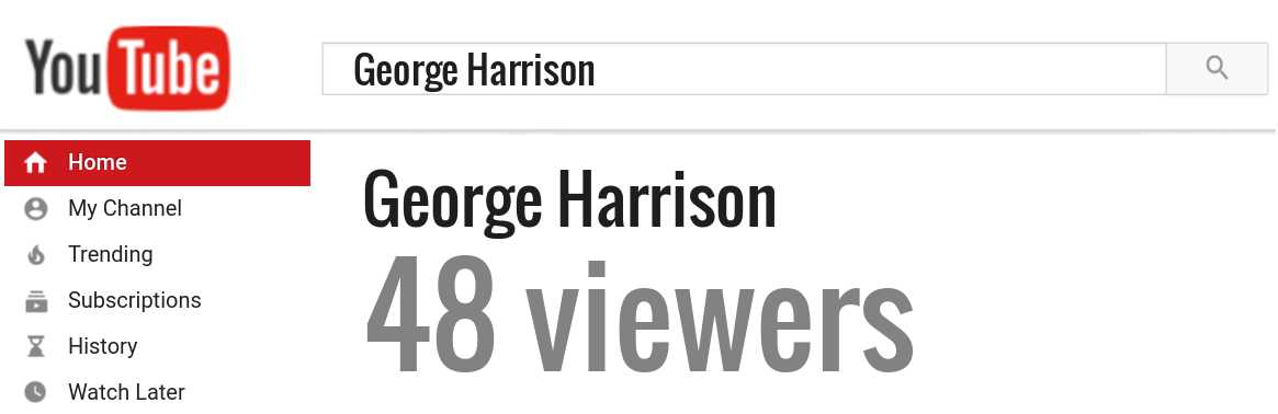 George Harrison youtube subscribers
