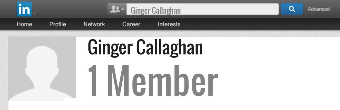 Ginger Callaghan linkedin profile