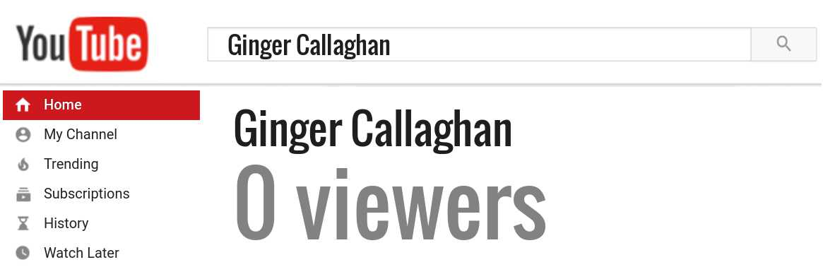Ginger Callaghan youtube subscribers