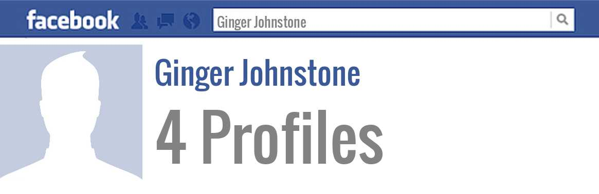 Ginger Johnstone facebook profiles