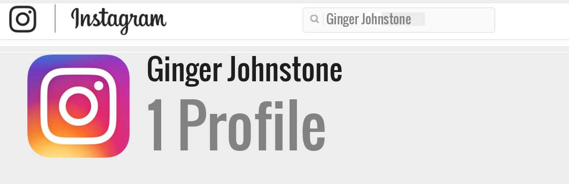 Ginger Johnstone instagram account