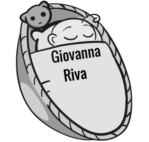 Giovanna Riva sleeping baby