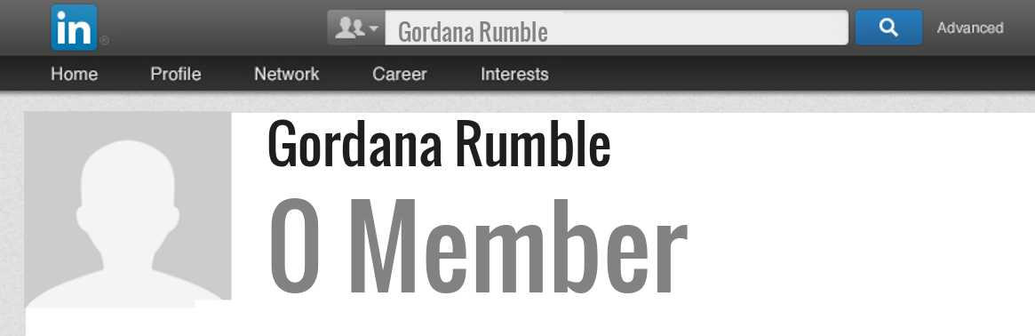 Gordana Rumble linkedin profile