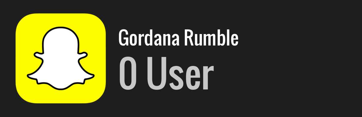 Gordana Rumble snapchat