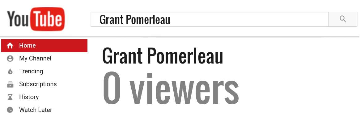 Grant Pomerleau youtube subscribers