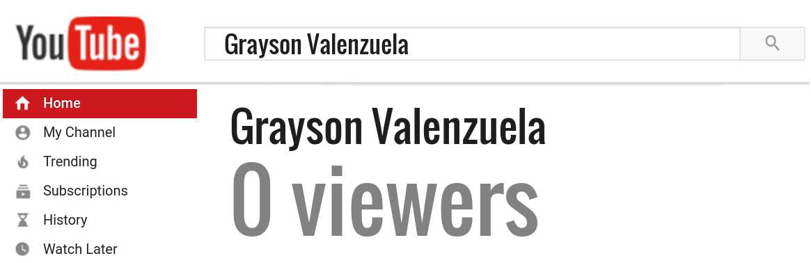 Grayson Valenzuela youtube subscribers