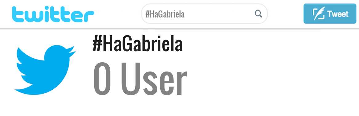 Ha Gabriela twitter account