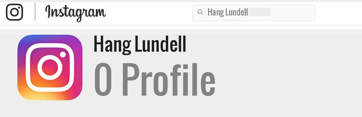 Hang Lundell instagram account