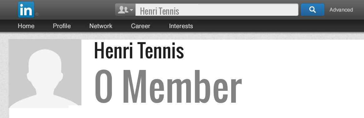 Henri Tennis linkedin profile