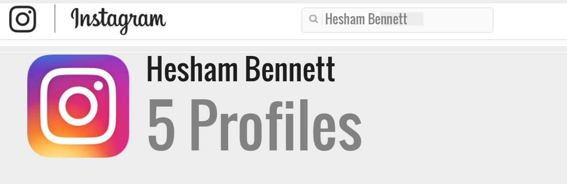 Hesham Bennett instagram account