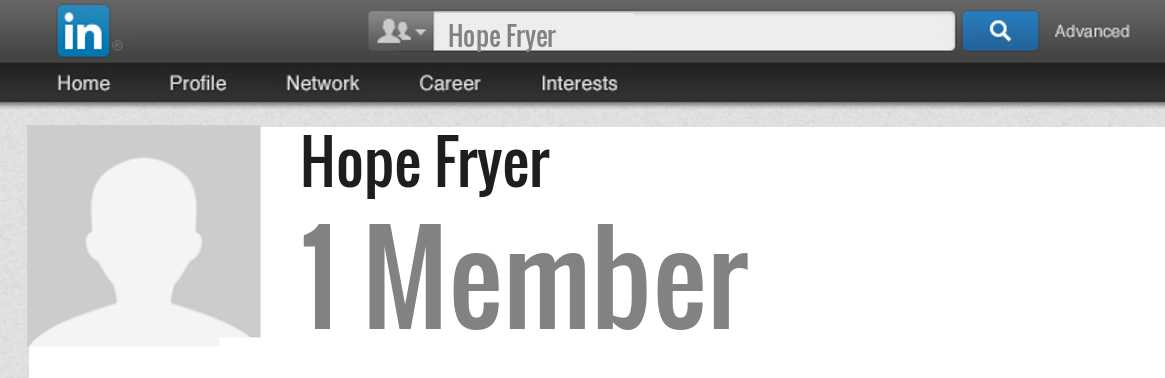 Hope Fryer linkedin profile