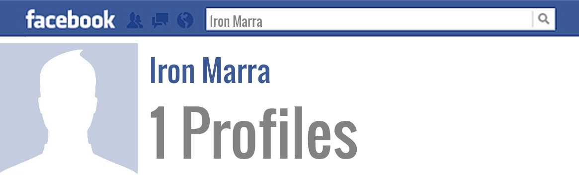 Iron Marra facebook profiles