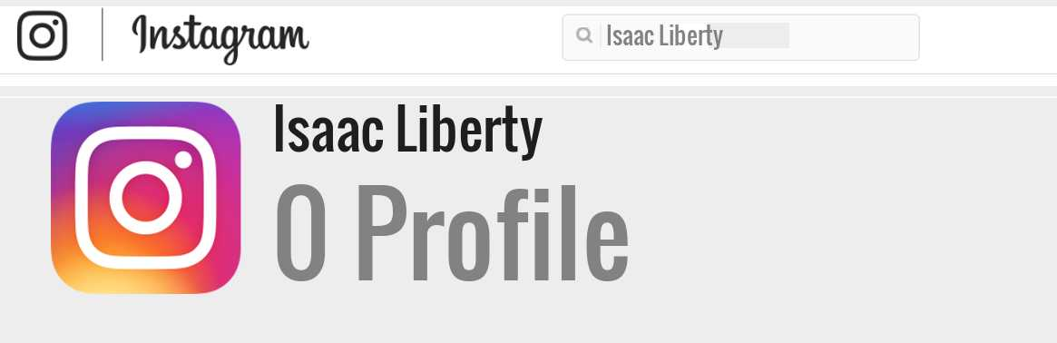 Isaac Liberty instagram account
