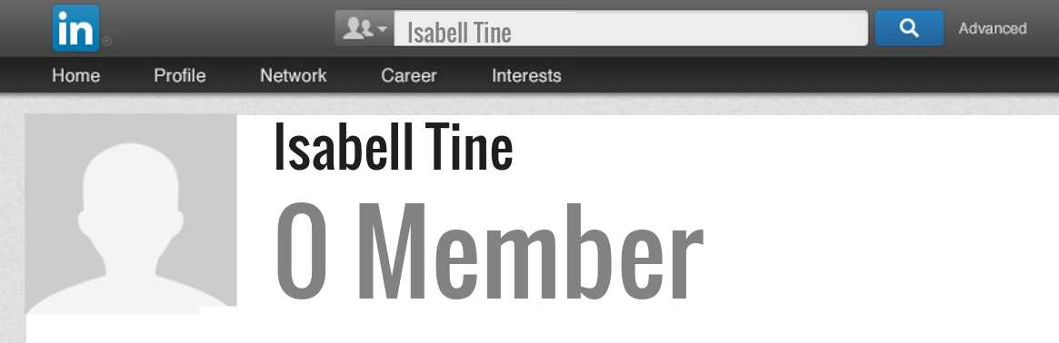 Isabell Tine linkedin profile
