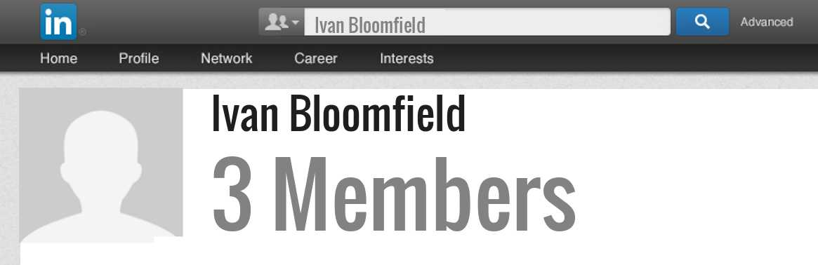 Ivan Bloomfield linkedin profile