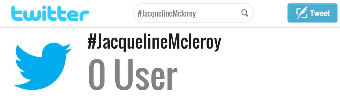 Jacqueline Mcleroy twitter account