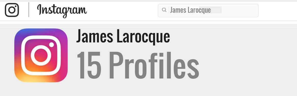James Larocque instagram account