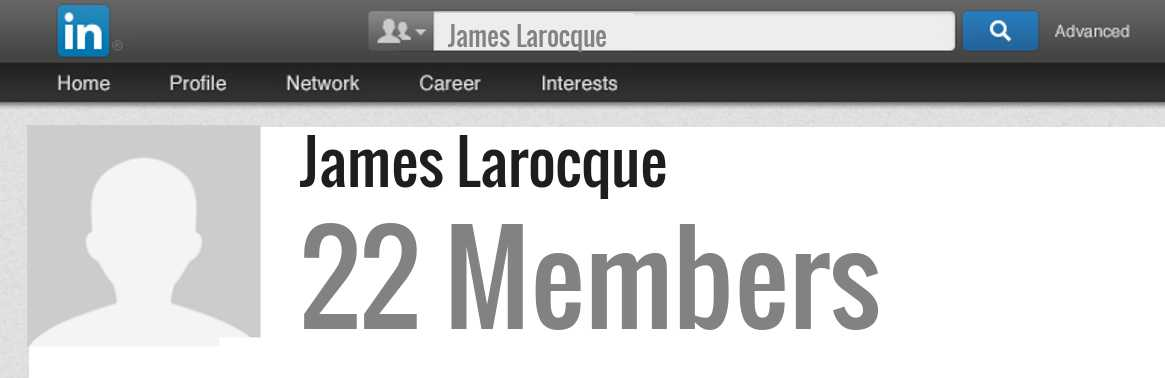 James Larocque linkedin profile