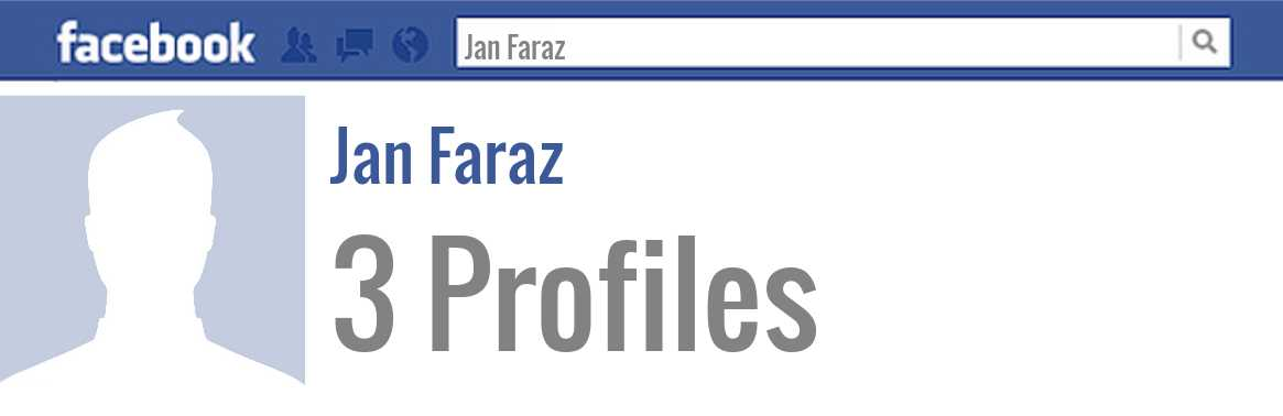 Jan Faraz facebook profiles