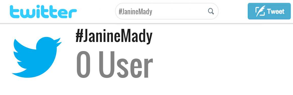Janine Mady twitter account