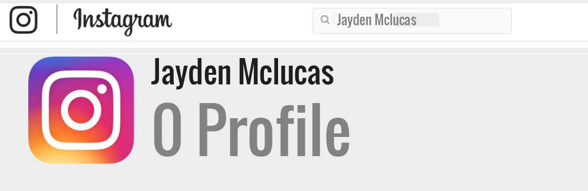 Jayden Mclucas instagram account