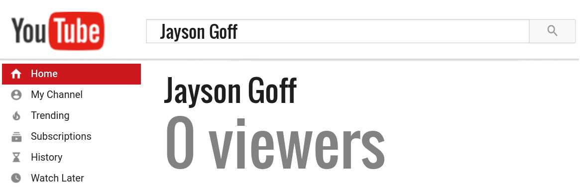 Jayson Goff youtube subscribers