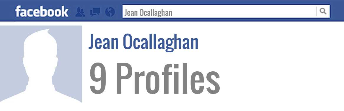 Jean Ocallaghan facebook profiles