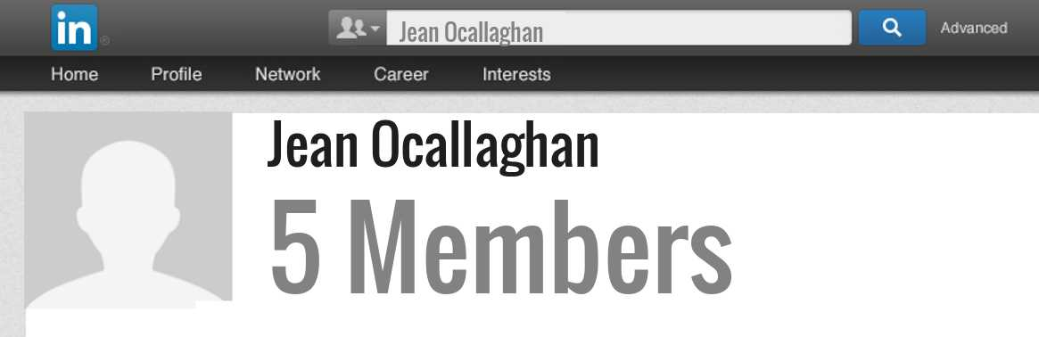 Jean Ocallaghan linkedin profile