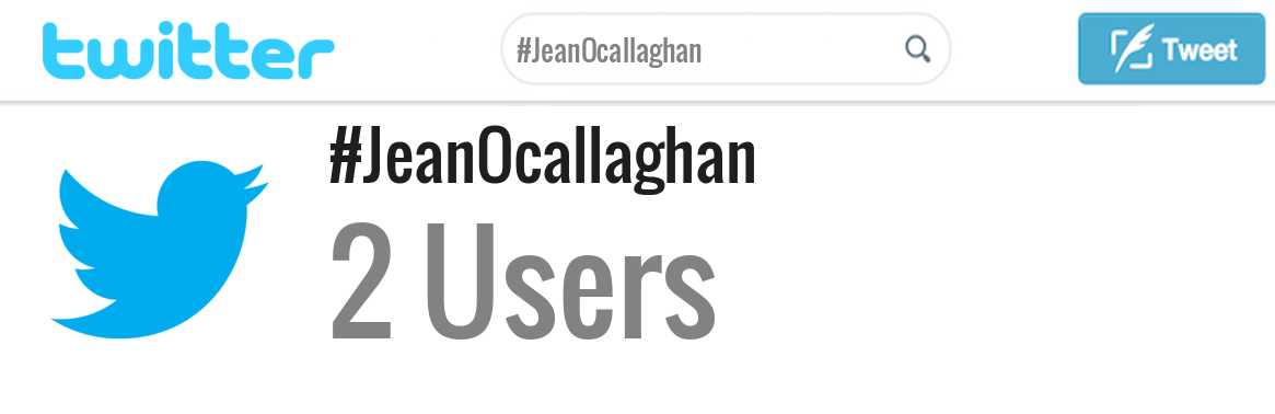 Jean Ocallaghan twitter account