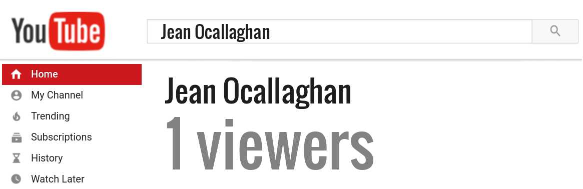 Jean Ocallaghan youtube subscribers