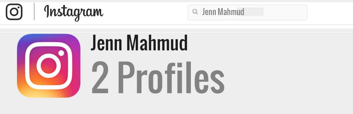 Jenn Mahmud instagram account