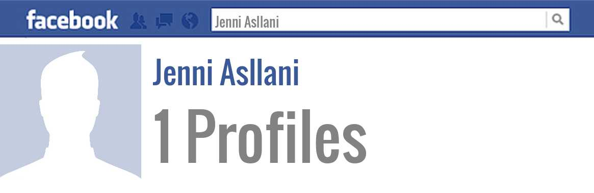 Jenni Asllani facebook profiles