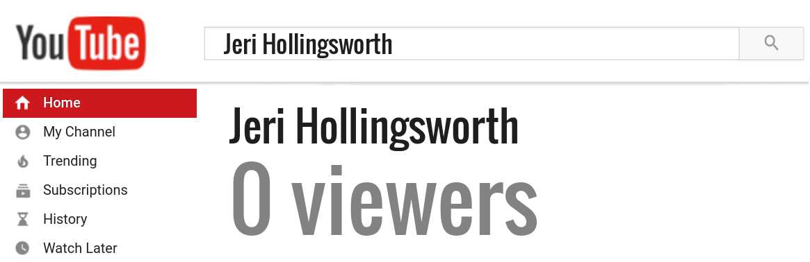 Jeri Hollingsworth youtube subscribers