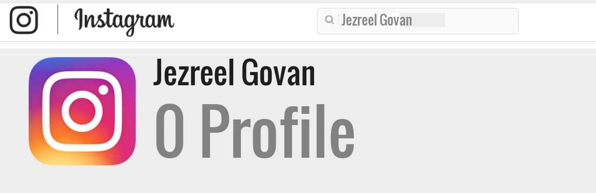Jezreel Govan instagram account