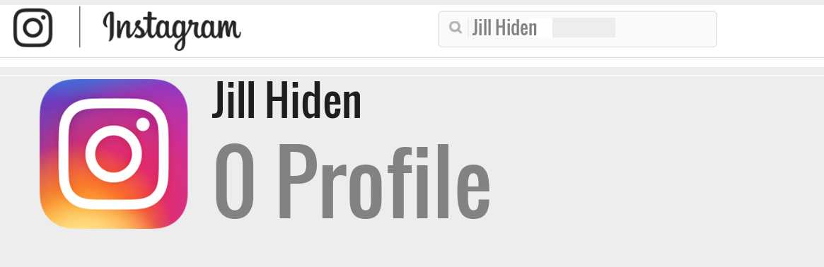 Jill Hiden instagram account