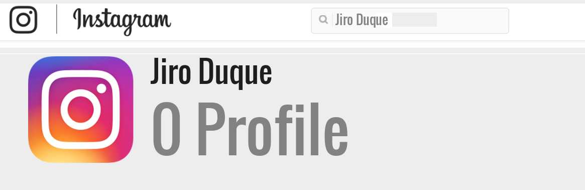Jiro Duque instagram account