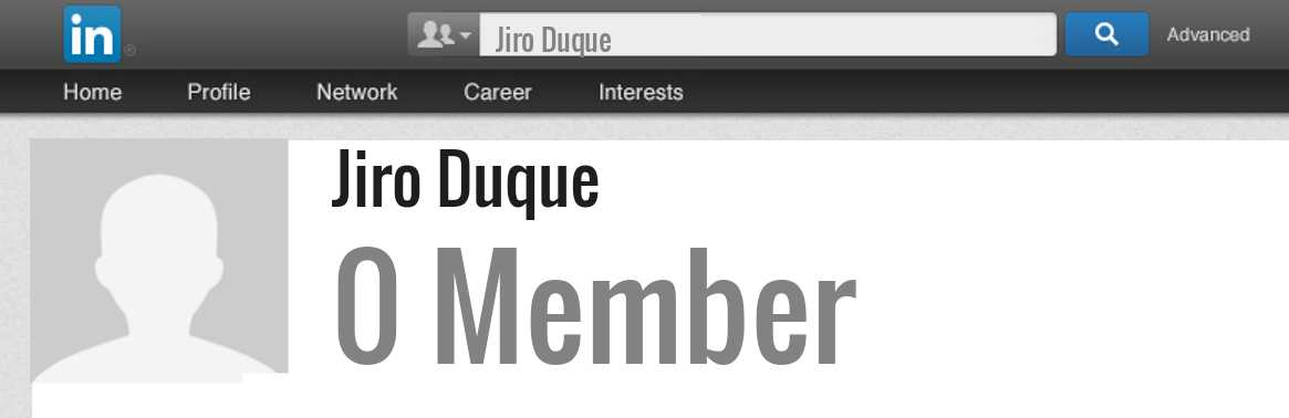 Jiro Duque linkedin profile