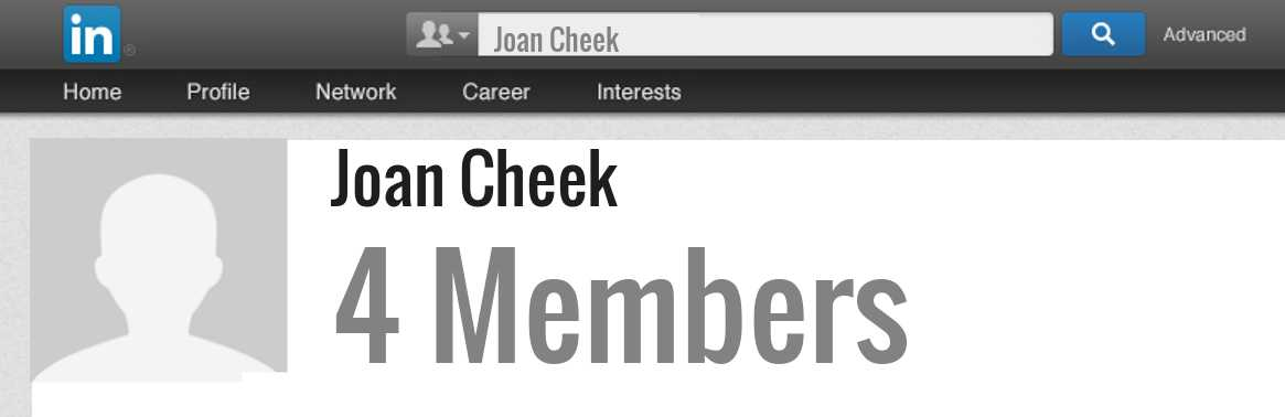 Joan Cheek linkedin profile