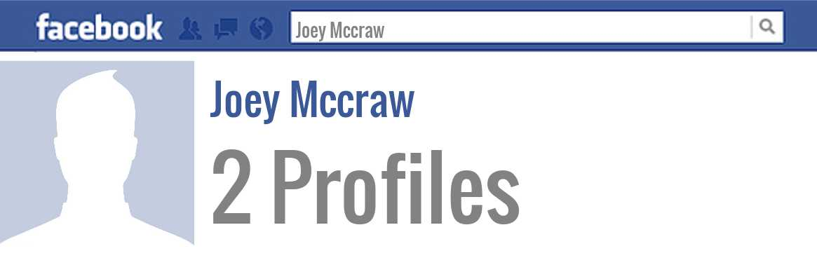 Joey Mccraw facebook profiles